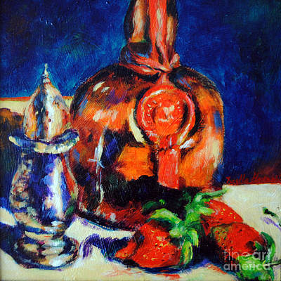Liquor And Strawberries Poster by Toelle Hovan