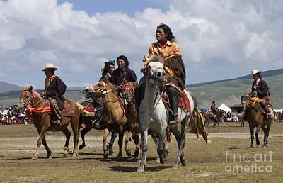 Litang Horseman - Kham Tibet Poster by Craig Lovell