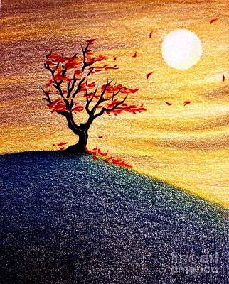 Little Autumn Tree Poster by Danielle R T Haney