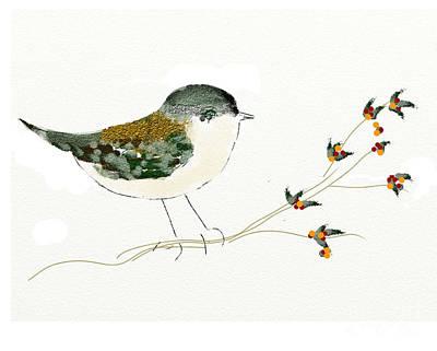 Little Bird On A Branch Poster