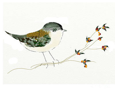 Little Bird On A Branch Poster by Alexandra  Sanders