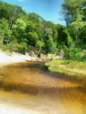 Little Black Creek - Hoffmaster State Park Poster by Michelle Calkins
