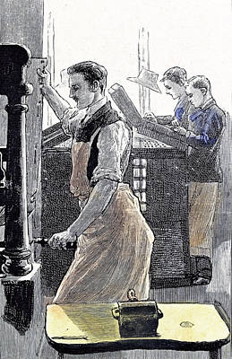 Little Boys Home At Farningham Britain 1891 The Composing Poster by English School