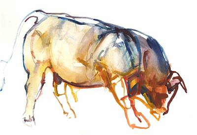 Little Bull, 2010, Watercolour And Gouache On Paper Poster