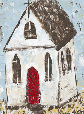 Little Church Poster by Kirsten Reed