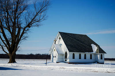 Little Church On The Prairie Poster by Luther Fine Art