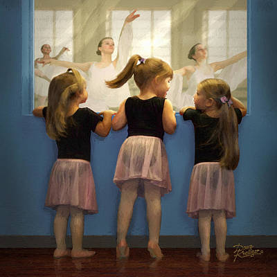 Little Dancing Dreamers Poster by Doug Kreuger