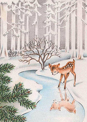 Little Deer Poster by Munir Alawi