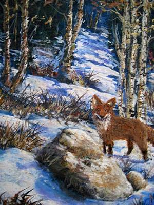 Poster featuring the painting Little Fox by Megan Walsh
