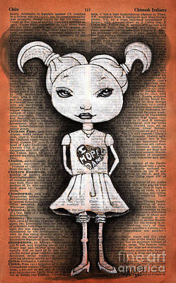 Little Girl Dancer Poster by Tammy Hennessy