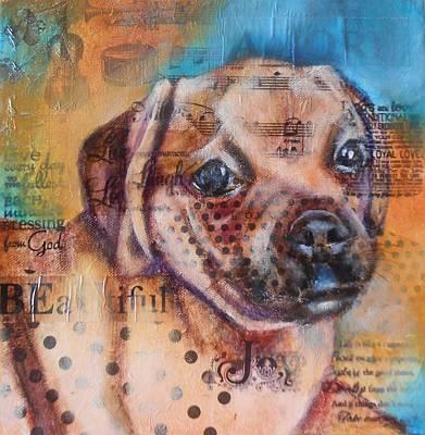 Little Pug Poster by Susan Goh