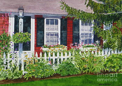 Little Red Cottage Poster by Karol Wyckoff