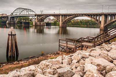 Little Rock Arkansas River Bridge Poster by Gregory Ballos