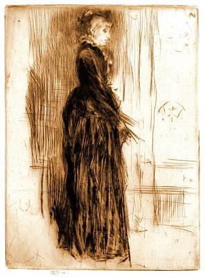 Little Velvet Dress 1860 Poster