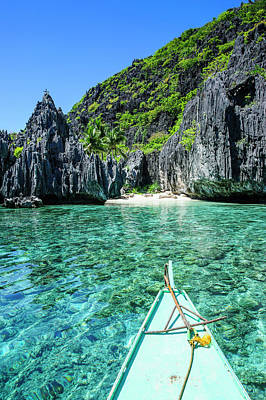 Little White Beach And Crystal Clear Poster by Michael Runkel