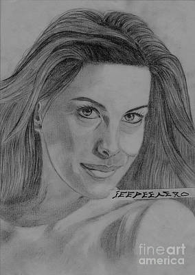 Poster featuring the drawing Liv Tyler by Jeepee Aero