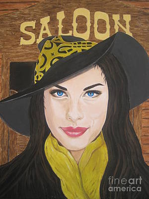 Poster featuring the painting Liv Tyler Painting by Jeepee Aero