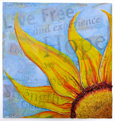 Poster featuring the painting Live Free by Lisa Fiedler Jaworski