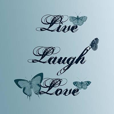 Live Laugh Love Butterflies Poster