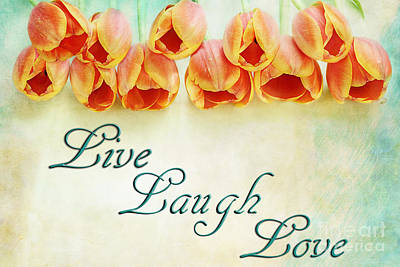 Live Laugh Love Poster by Stephanie Frey