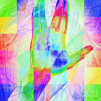 Live Long And Prosper 20150302v1 Color Squares Sq Poster by Wingsdomain Art and Photography