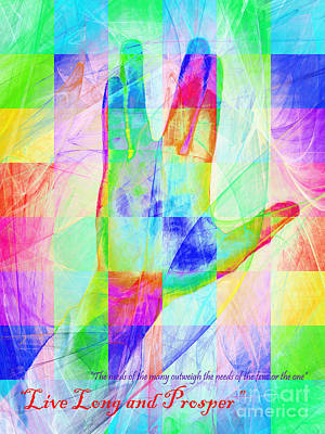Live Long And Prosper 20150302v1 Color Squares With Text Poster by Wingsdomain Art and Photography