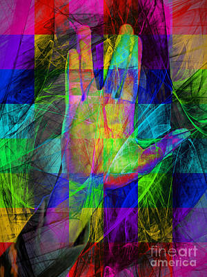 Live Long And Prosper 20150302v2 Color Squares Poster by Wingsdomain Art and Photography