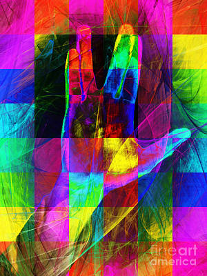 Live Long And Prosper Spock 20150302v3 Color Squares Poster by Wingsdomain Art and Photography