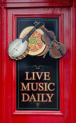 Live Music Daily Poster by Bill Cannon