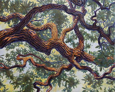 Poster featuring the painting Live Oak by Andrew Danielsen