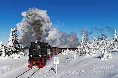 Live Steam On The Brocken Mountain Poster by Christian Spiller