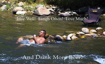 Live Well Laugh Often Poster by Floyd Snyder