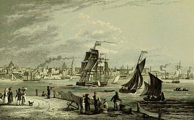 Liverpool, 19th Century Engraving 1837 Poster