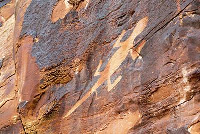 Lizard Petroglyph On Sandstone Poster by Jim West