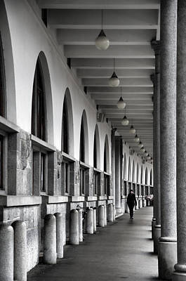 Poster featuring the photograph Ljubljana Archway by Graham Hawcroft pixsellpix