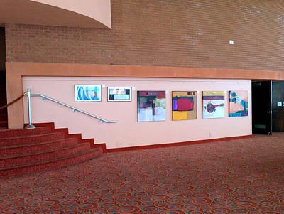 Lobby Wall Asu Gammage Poster by Marlene Burns