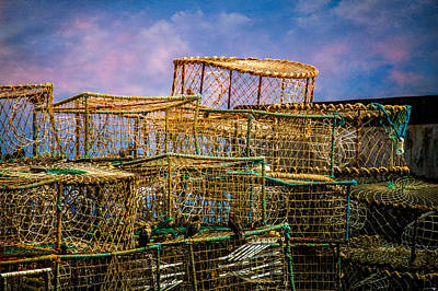 Lobster Baskets And Starlings Poster by Chris Lord