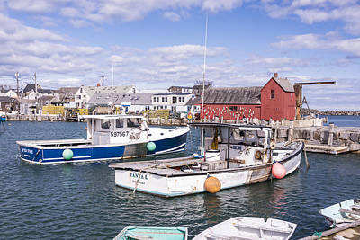 Lobster Boats In Rockport Harbor Poster by Andrew J. Martinez