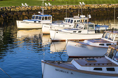 Lobster Boats - Perkins Cove -maine Poster by Steven Ralser