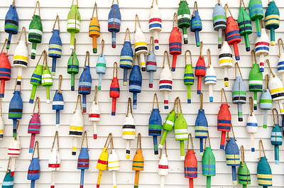 Lobster Buoys Poster by At Lands End Photography