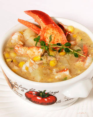 Lobster Chowder With Corn And Poblano Peppers Poster by Iris Richardson
