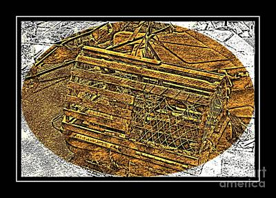 Lobster Pot - Brass Etching Poster by Barbara Griffin