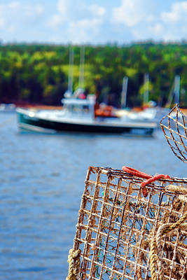Lobster Trap In Maine Poster by Olivier Le Queinec
