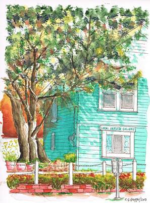 Local Artists Gallery, Monterey, California Poster by Carlos G Groppa