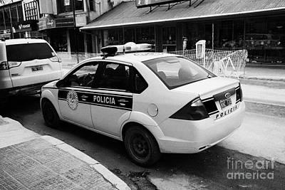 local provincial tierra del fuego police patrol car policia Ushuaia Argentina Poster by Joe Fox