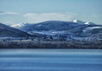 Loch Ness Winter Blues Poster by Jacqi Elmslie