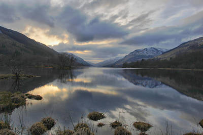 Loch Voile As Sundown Approaches Poster by Buster Brown