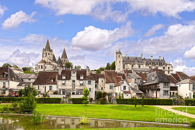 Loches Loire Valley France Poster by Colin and Linda McKie