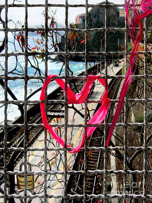 Poster featuring the photograph Lock And Love.cinque Terre.italy by Jennie Breeze
