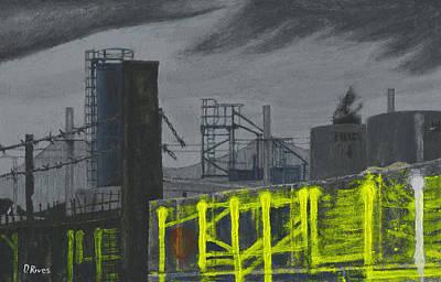 Lock Lane Acrylic On Canvas Poster